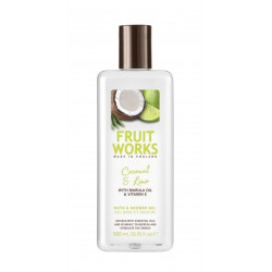 Fruit Works Coconut & Lime Bath & Shower Gel | 500 ml