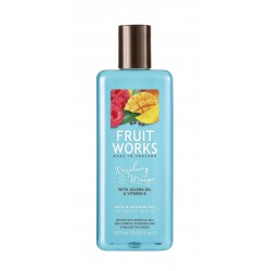 Fruit Works Raspberry & Mango Bath & Shower Gel | 500 ml