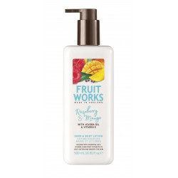 Fruit Works Raspberry & Mango Hand & Body Lotion | 500 ml