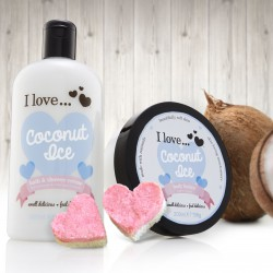 I LOVE Bath & Shower Coconut Ice